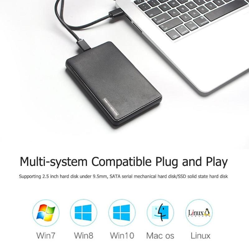 HDD Case 2.5 Inch SATA To USB 3.1 Type C SSD 6TB Hard Disk Drive Box External HDD Enclosure Max Support 6TB For Macbook Mac Os