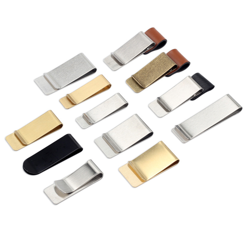 1PC Cute Metal Clips Vintage Leather Clamp Brass Stainless Steel Pencil Holder For School Office Supplies Notebook Accessories