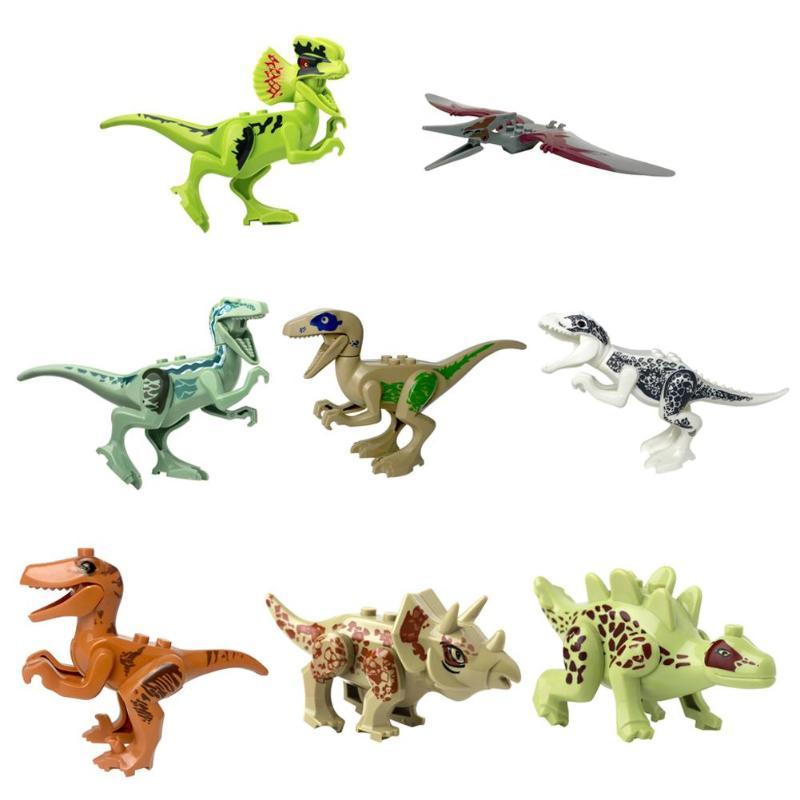 1 Pc 8 Pcs Dinosaurus Monteren Bouwstenen Speelgoed Abs Animal Model Building Diy Blokken Kinderen Educatief Speelgoed Verjaardagscadeau