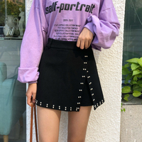 Tutu Limited Hot Sale Casual Long Skirt Women Skirt Irregular Wool Empire Waist Above Knee Mini Length A line Solid 2019 Spring