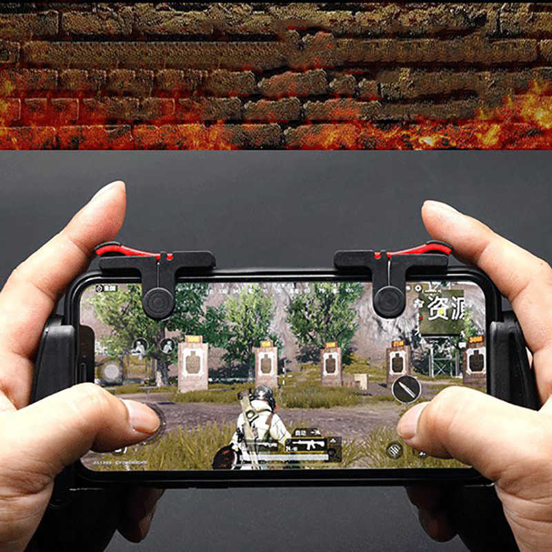 2PCS PUBG Mobile Gamepad Trigger Fire Button L1R1 Shooter Trigger Fire Button Controller Aim Key Joystick For iPhone Android