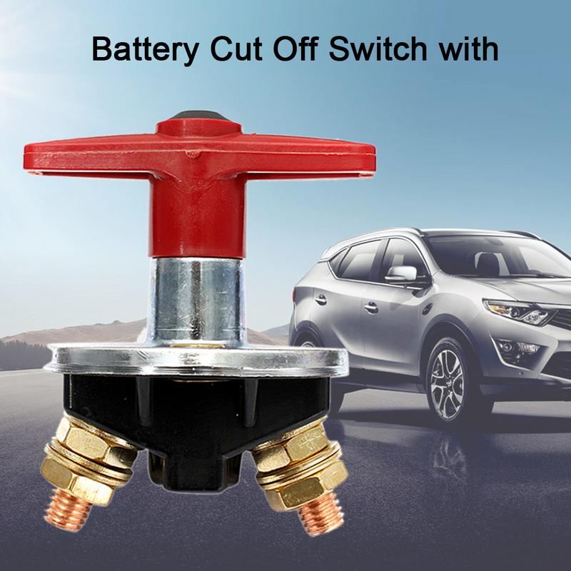 4-Pack Motorcycle Battery Power On-Off Shut Switch Battery Isolator Swtich