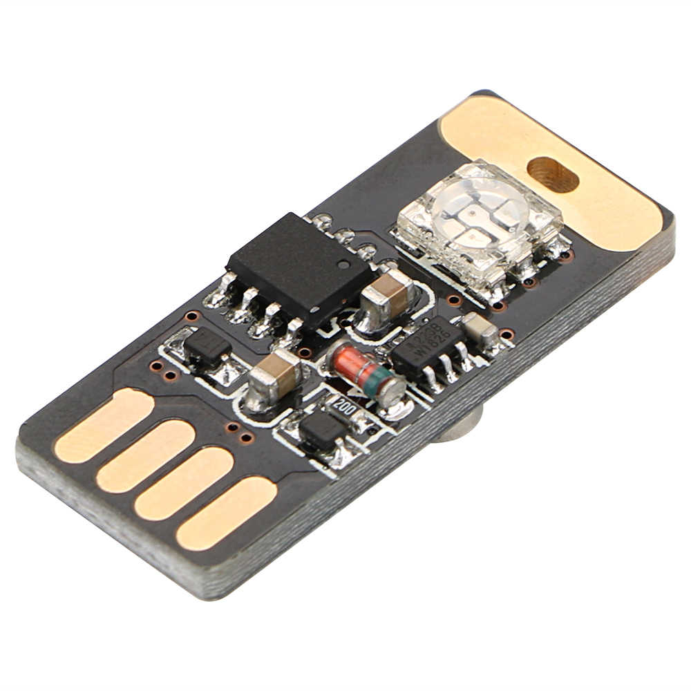 FORAUTO Auto USB LED RGB Luce Ambiente Portatile Mini Auto Lampada Decorativa di Voce e di Tocco di Controllo Del Piede Auto Lampada Auto styling