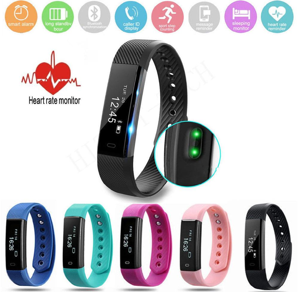 BEESCLOVER Tracker Smart Bracelet ID115 Veryfit APP Bluetooth Activity Monitor Alarm Clock Sports Wristband for iOS Android r15 image