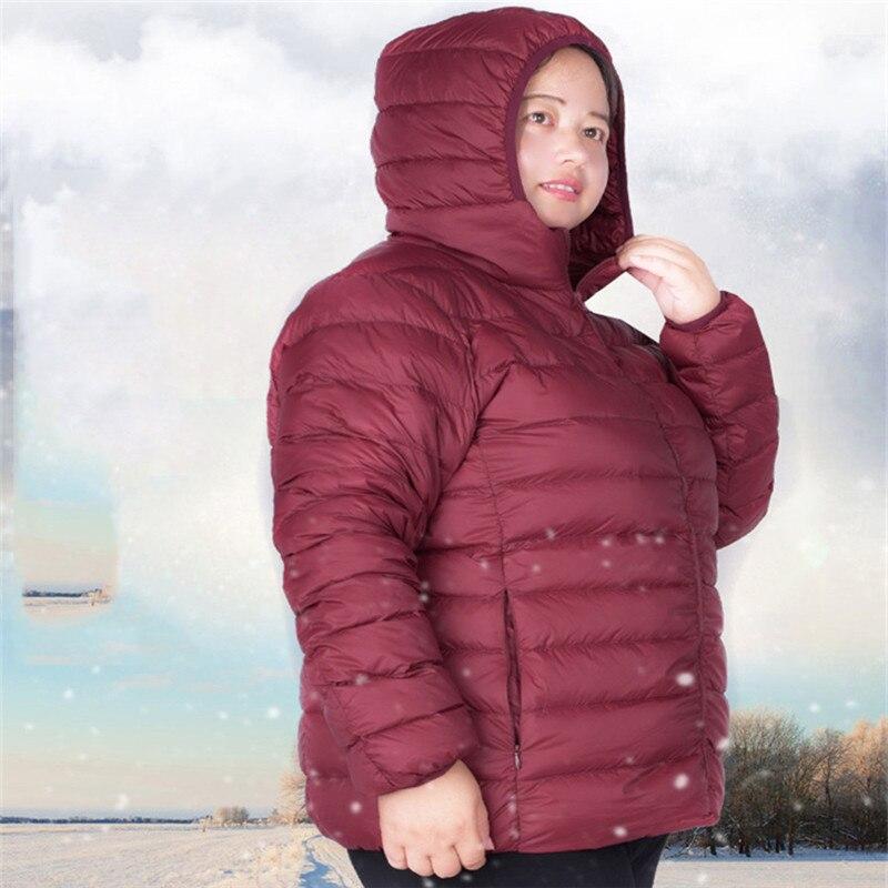 MUKATU Women Ultra Light Duck   Down   Jacket Plus Size4XL-6XL Autumn Winter Hooded   Down     Coat   Overcoat