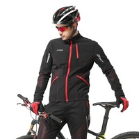 Winter Cycling Warm Jersey Set Outdoors Hiking Riding Bicycle Sport Clothing Triathlon MTB Jacket Villi Lining Clothes Trousers