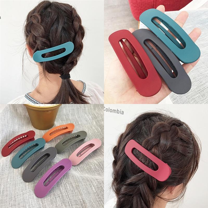 Acrylic Candy Color Hair Clip Sweet Girl Bangs Side Duckbill Clips Women Hairpin