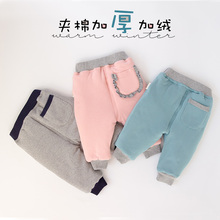 2018 loose and comfortable girls Pants You Baby Cotton-padded Trousers Thickening Baby Male Girl Cotton-padded Trousers 2018 baby girls cotton padded outerwear