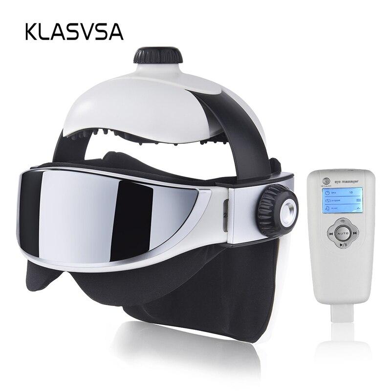 KLASVSA Electric Head Neck Massager Far Infrared Heating Vibration Eye Mask Massage Air Pressure Muscle Stimulator