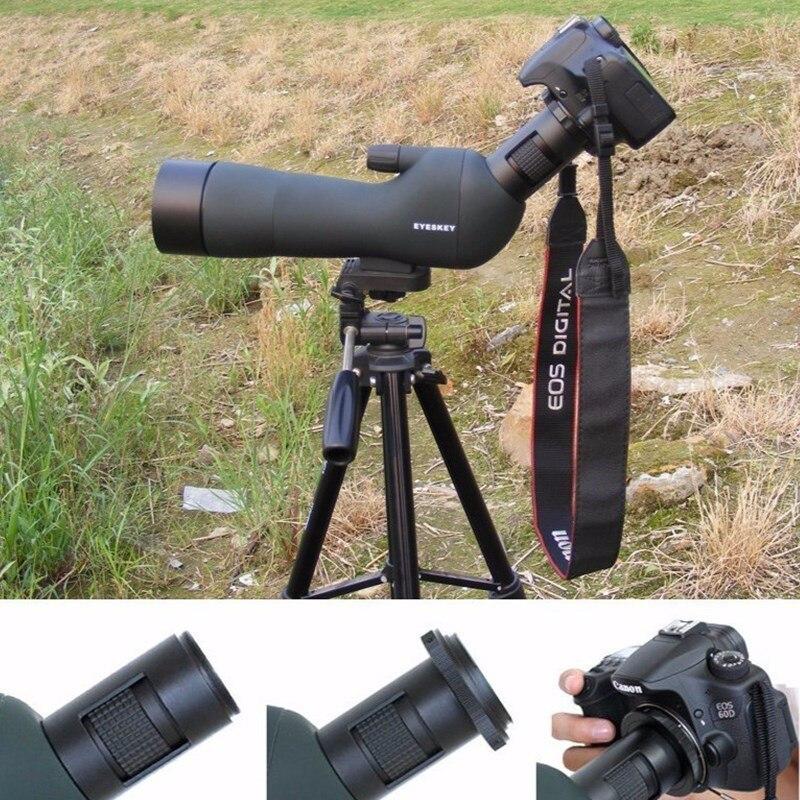 NEW T Ring For Canon Nikon Sony Olympus Pentax SLR DSLR Camera Adapter + M42 Thread Mount Tube Spotting Scope Monocular Adapter