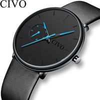 CIVO модные спортивные для мужчин s часы Роскошные водостойкие Reloj Hombre 2019 Новый ультра тонкий циферблат часы для мужчин часы Relogio Masculino