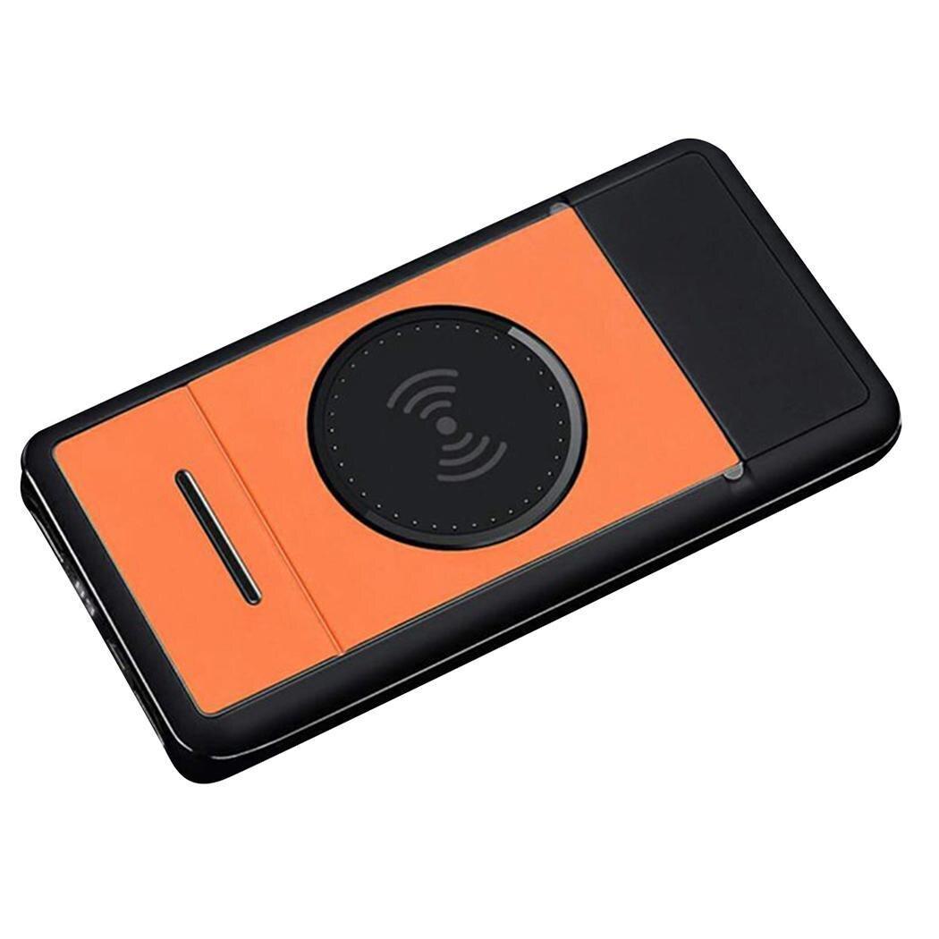 Qi chargeur sans fil affichage numérique batterie externe noir, Orange, gris rapide plastique 10000 mAh Charge avec support