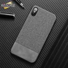 KISSCASE Cloth Leather Phone case for Xiaomi Redmi Note 7 8