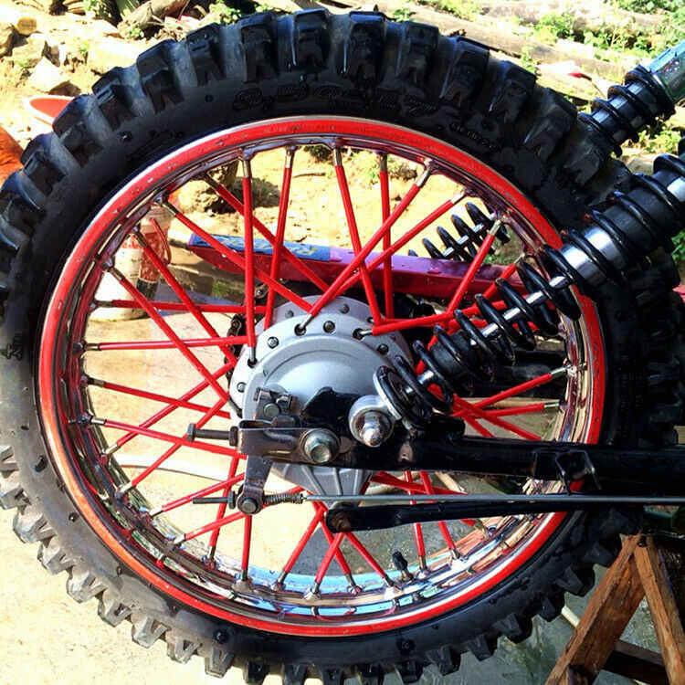 72 Pcs 24 Cm Motorcross Offroad Dirt Bike ATV Roda Rim Berbicara Wraps Kulit Cover Sucker Pelindung Dekoratif