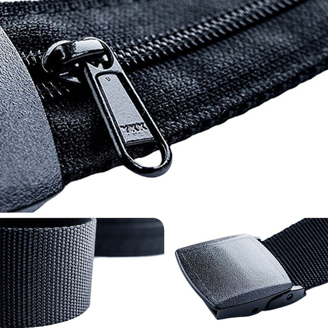Women Man Travel Anti Theft Money Belt Money Stash Portable Cash Bag Wast Pack Secret Compartment Hiding Wallet 1.25m