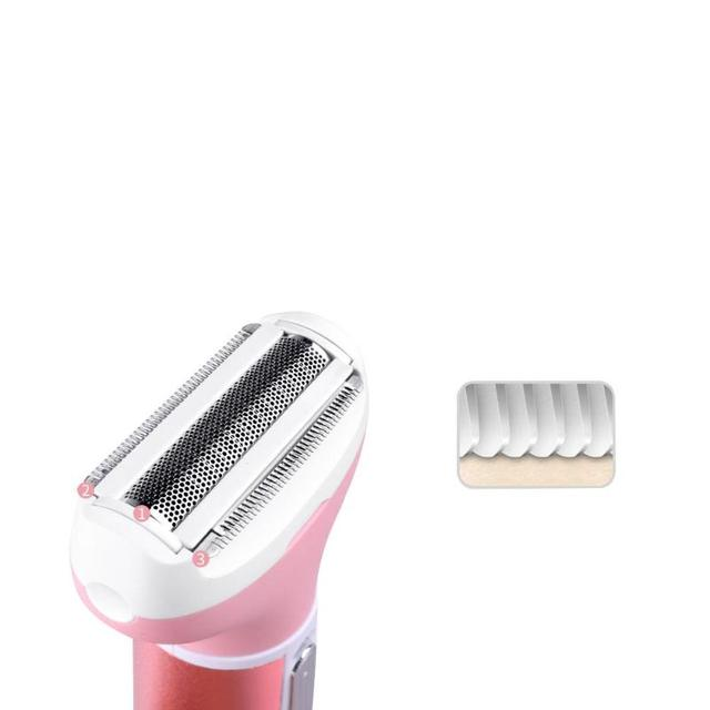 Kemei KM-6637 Electric Shaver 4 in 1 Rechargeable Hair Trimmer Women Hair Removal Machine Epilator Eyebrow Nose Trimmer Razor 4