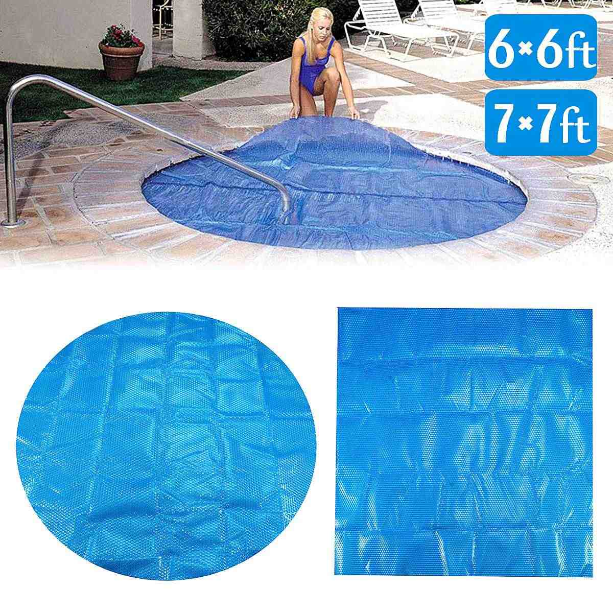 6ft/7ft Round/Square Swimming Pool Spa Hot Tub Cover 400m ...