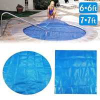 6ft/7ft Round/Square Swimming Pool Spa Hot Tub Cover 400m Solar Thermal Blanket