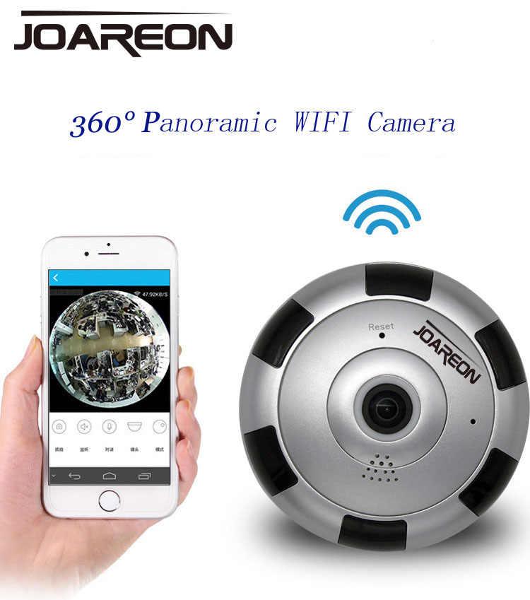 1080 P панорамная камера WiFi Крытая ip-камера беспроводной рыбий глаз детский монитор с ночного видения 2-Way-Audio