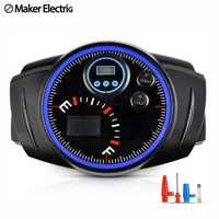 Digital screen Car compressor watch Shape electric air pump 12W lighting 25 cylinder tyre inflator  for wheel emergency