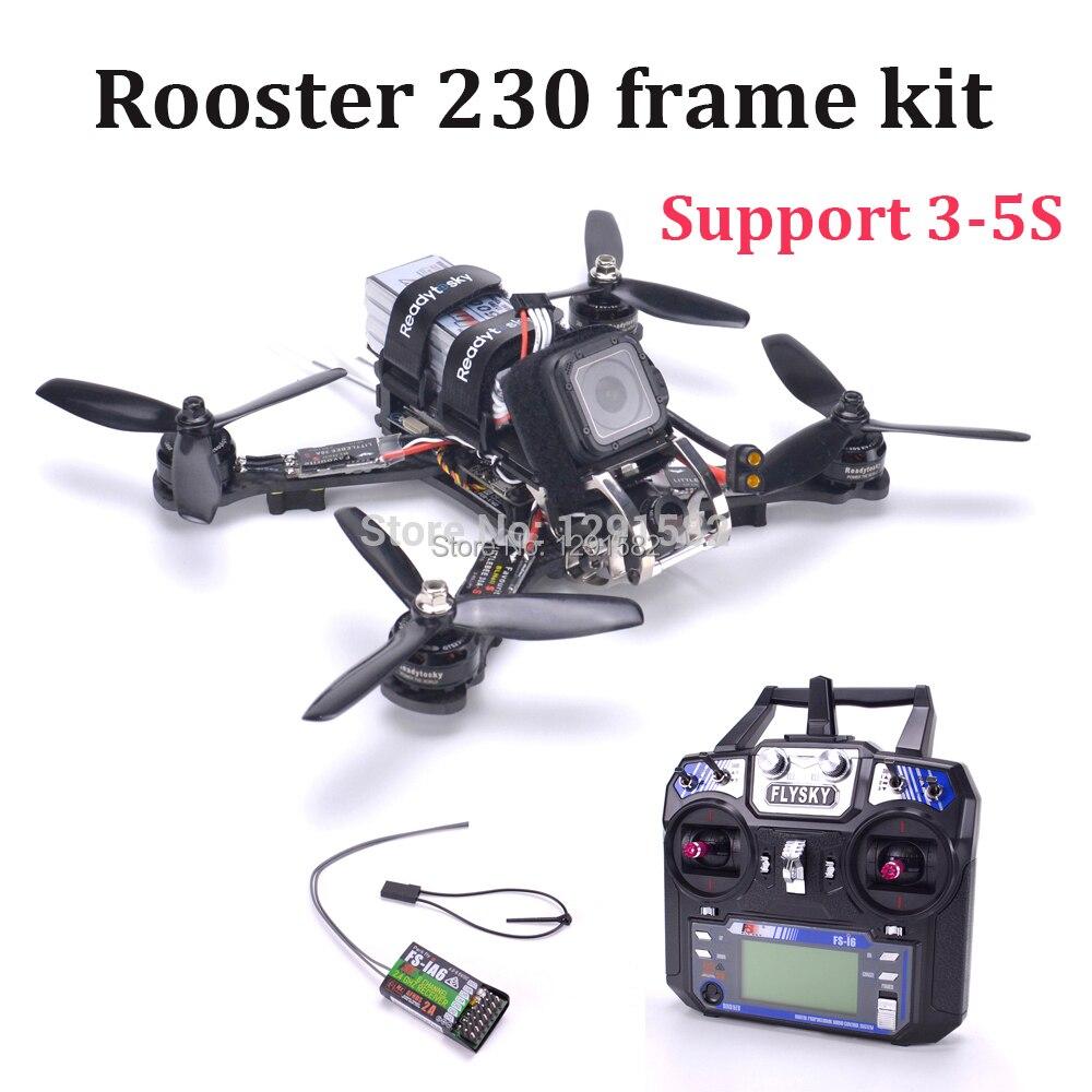Rooster 230 quadcopter z włókna węglowego zestaw F3 Acro kontroler lotu Littlebee 30A blheli s ESC Flysky I6 FS I6 w Części i akcesoria od Zabawki i hobby na  Grupa 1