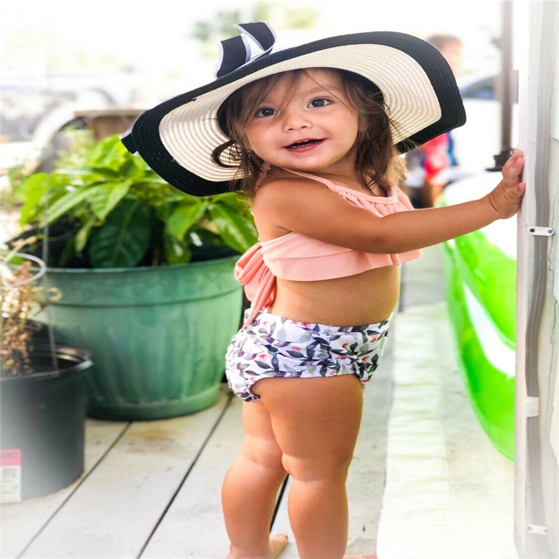 Fashion Casual Slim Print Sweet Kids Girls Swimwear Bownot Swimming Leaf Flower Bathing Suit Summer ClothesFashion Casual Slim Print Sweet Kids Girls Swimwear Bownot Swimming Leaf Flower Bathing Suit Summer Clothes