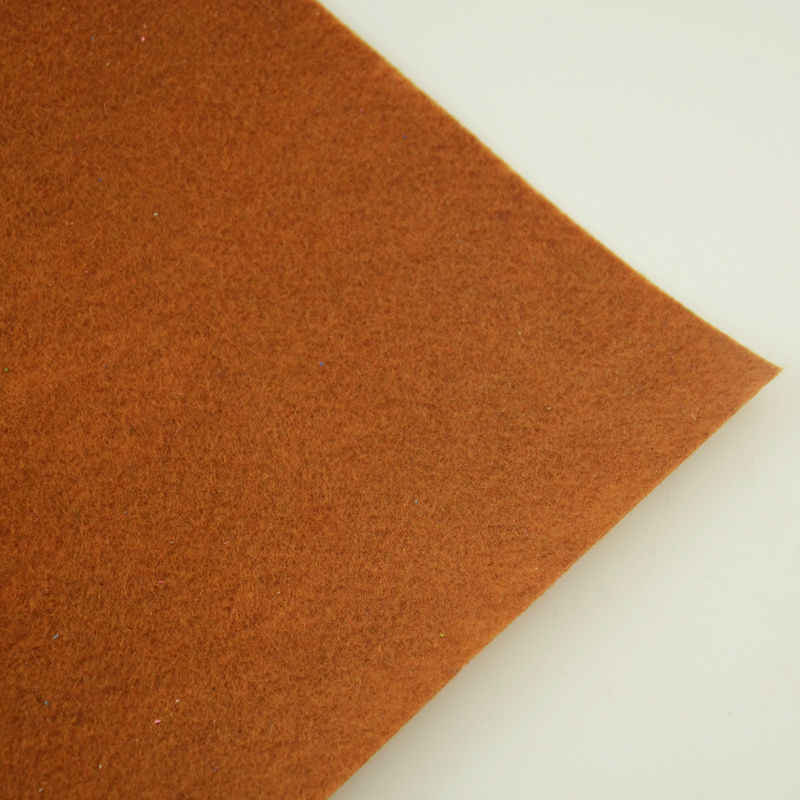 Dark Brown Color Interior Decoration Nonwoven Shoe Materials Felt Fabric Christmas Crafts 100% Polyester Sewing Toys 1mm Thick