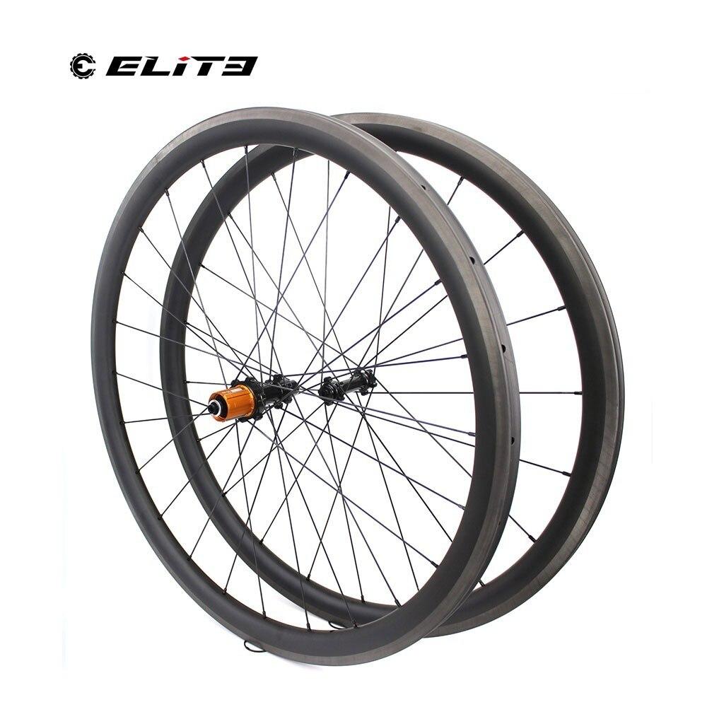 Cheap 1130g Only 700C Road Bike Tubular Wheelset Carbon Fiber Bicycle Wheel Bitex Straight Pull Hub For Clmbing Clincher 1230g 3
