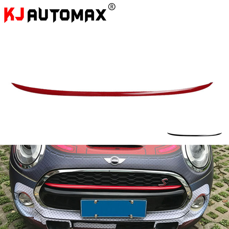 KJAUTOMAX Front Grille PC Decoration Cover Stripe For Mini Cooper F55 F56 R60 Car Styling Accessories