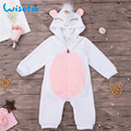 Wisefin Newborn Body Baby <font><b>Rompers</b></font> For Boy Girl Cotton 0-2 Years Infant Hooded Clothes Jumpsuit Hooded Toddler Baby Girl <font><b>Rompers</b></font>