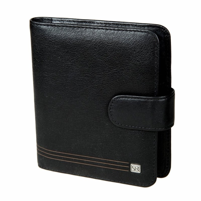 Business Card Holder Sergio Belotti 2612 West black large capacity card holder multifunctional wallet