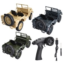 JJRC 4WD Q65 2.4GHz RC Off-road Truck Militar 1/10 Luz De Controle Remoto Jeep Four-Wheel Drive off-Road Carro de Escalada Militar(China)