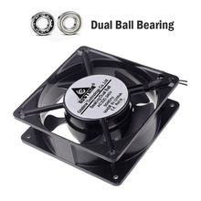 2Pcs Gdstime 120mm x 38mm 2 Wire AC 220V 240V Ball Bearing Case Cooling Fan ebmpapst w2s130 aa03 64 server round fan ac 230v 45w 172x150x55mm 2 wire