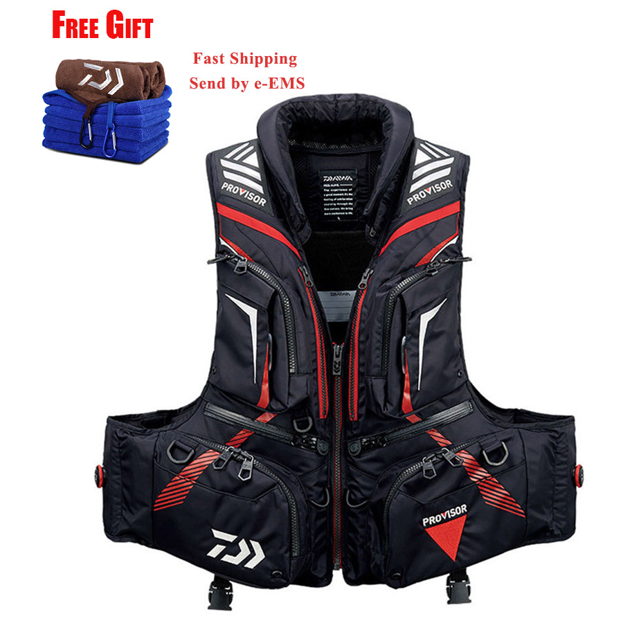 1PC Drop Shipping Daiwa Men Outdoor Fishing Vest Life Jacket Multi-Pockets Float Buoyancy Fishing Pesca Clothing Vest DF-32081PC Drop Shipping Daiwa Men Outdoor Fishing Vest Life Jacket Multi-Pockets Float Buoyancy Fishing Pesca Clothing Vest DF-3208