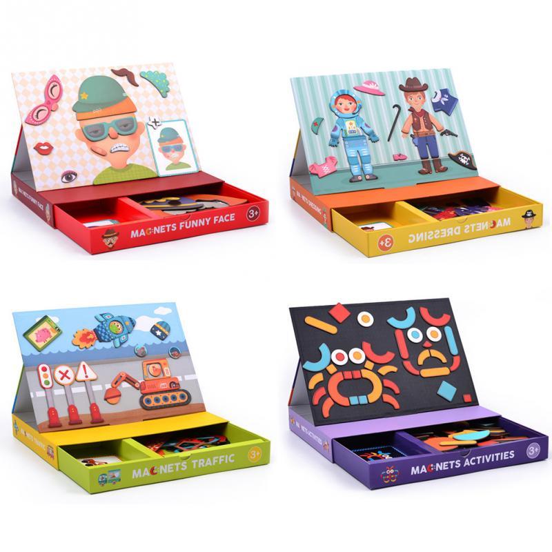 2018 nouveau Puzzle coloré jouets papier changement Durable Puzzel jouets d'apprentissage Intelligent jouets éducatifs pour enfant cadeau
