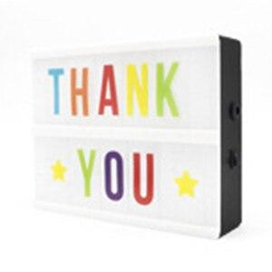 Image 2 - 30*65.5mm A4 קולנועי LED מרפסת אור עד סימן תיבת Lightbox הודעה לוח קולנוע LED מכתב סמל בית מסיבת חתונה מנורת דקור