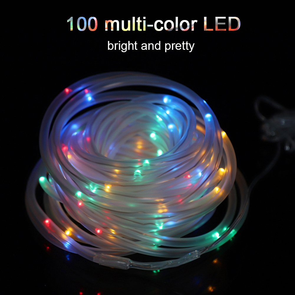 10m Solar Powered 100LED Multi-Color Wire String Fairy Light Home Outdoor Waterproof Decor DIY Lamp Led Light Strings