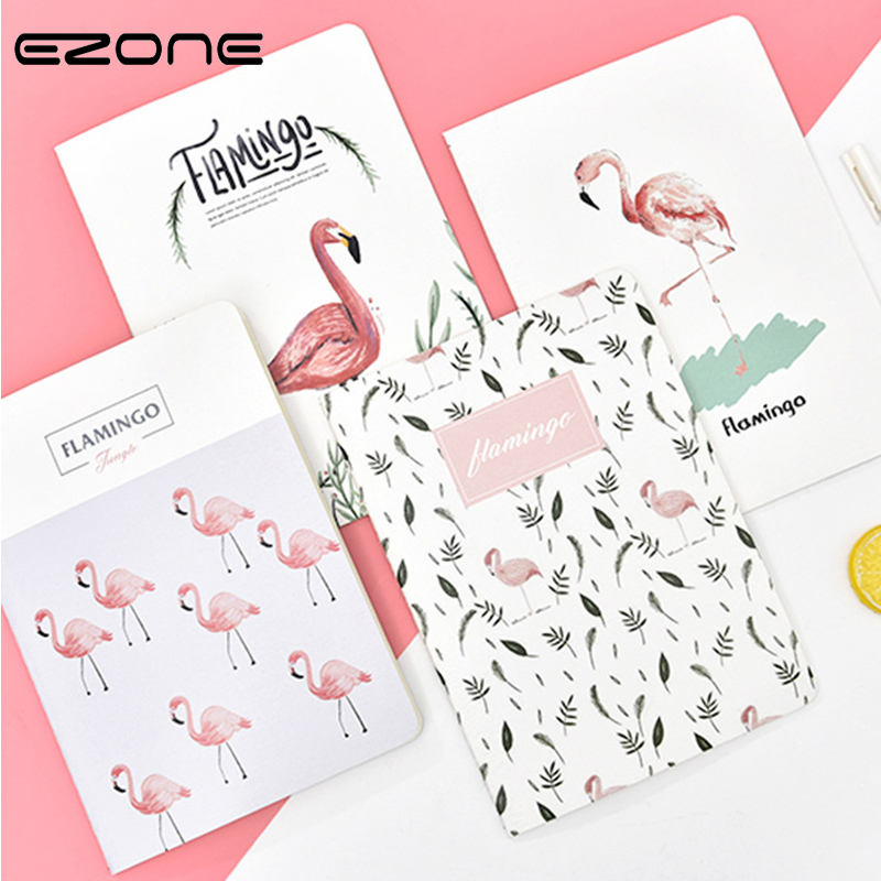 EZONE 1PC Flamingos <font><b>Notebook</b></font> Sakura Whale <font><b>Notebook</b></font> <font><b>B5</b></font> <font><b>Line</b></font> Paper <font><b>Notebook</b></font> Travel Diary Sketchbook Weekly Plan Student Stationery image