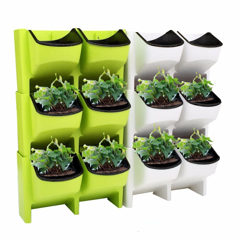 Stackable Wall Planter Flower Pot Garden Plant Pots Wall Hanging Vertical Succulents Flower Pot Bonsai Home Decor Dropshipping