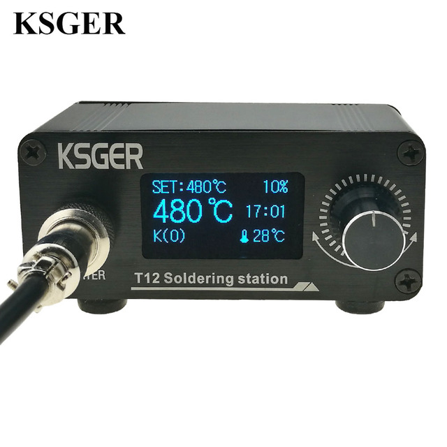 KSGER T12 Soldering Iron Station  MIni STM32 OLED V2.01 DIY Kits FX9501 Electric Tools Aluminum Alloy Handle Sting Welding Tips