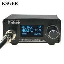 Ksger T12 はんだごてステーションミニ STM32 oled V2.01 diy キット FX9501 電動工具アルミ合金ハンドルスティング溶接のヒント
