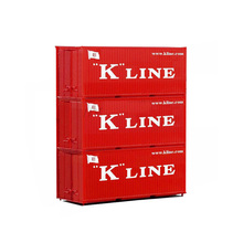 20ft Ho Scale K-line Red Container 1:87 The Door Can Open Good Quality