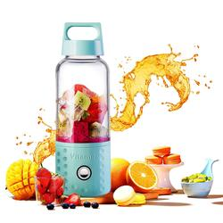 Hot sale USB Juicer Cup Portable Blender Smoothie Blender 17 oz Fruit Mixing Machine with 4000mAh Rechargeable Batteries