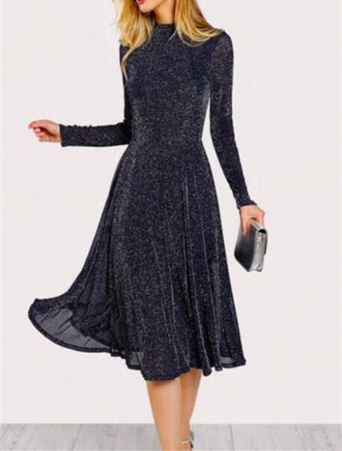 long sleeve midi cocktail dresses