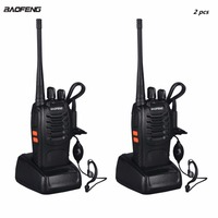 2pcs VHF/UHF Baofeng BF 888S Portable FM Transceiver Rechargeable Walkie Talkie in Two Senses 5W 2 way Ham Radio Comunicador