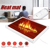 Leather Electric Heating Pad Office Heating Foot Mat Warmer 100W 220V Winter Warm Feet Thermostat Carpet Household Warming Tools