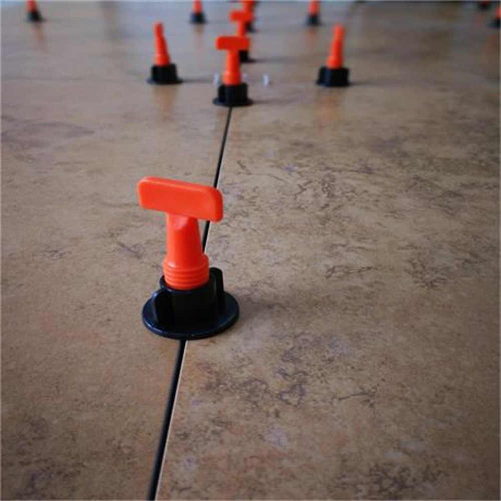 50Pc system poziomowania płytek podłogowych niwelator plastikowy klips regulowany lokalizator dystansowe szczypce poziom kliny narzędzia ręczne