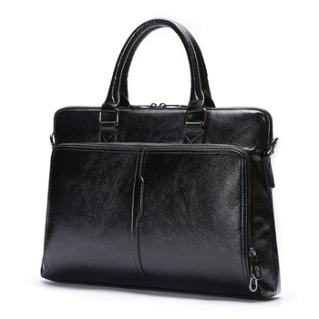 High Quality Male Package Concise Man Handbag New Pattern Husband Business Briefcase Leisure Black Handbag PU Leather Bags Men
