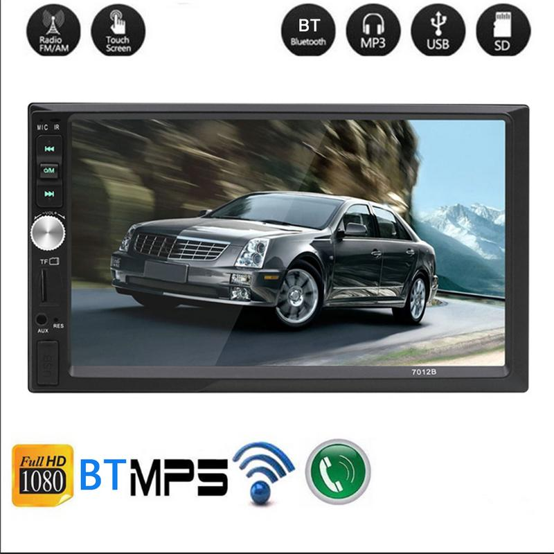 7 Inch HD Touch Screen Car Radio Bluetooth Stereo Audio Car Dual 2 Din Car Multimedia MP5 Player Bluetooth Call Drop Shipping