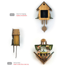 Antique Wooden Cuckoo Wall Clock Bird Time Bell Swing Alarm Watch Home Art Decor WXV Sale